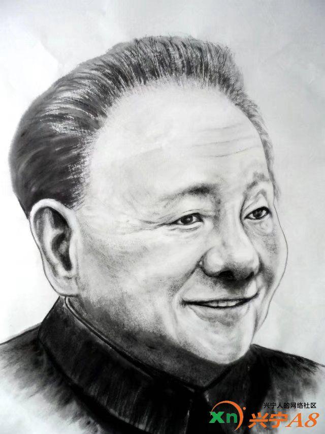 《邓小平水墨画像》香港回归二十年纪念,罗建辉作品