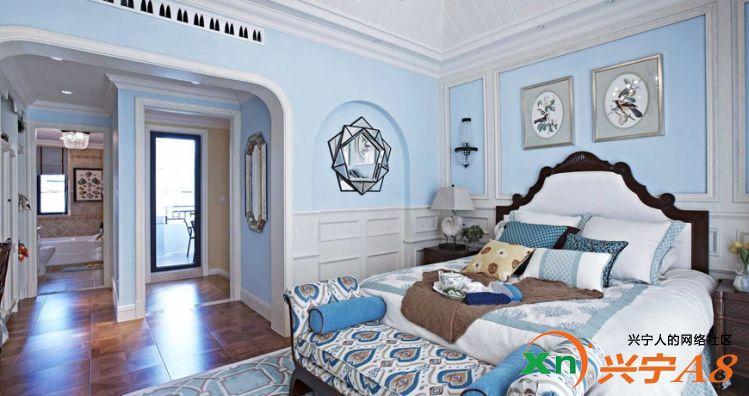 地中海风格装修卧室图片