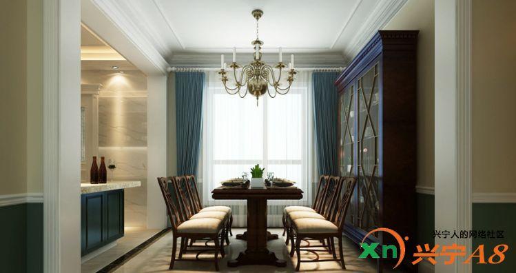 美式风格装修餐厅图片