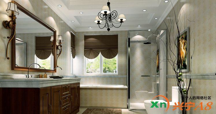 美式风格装修卫生间图片