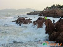 盛夏的青岛第一海水浴场2014.08.02)